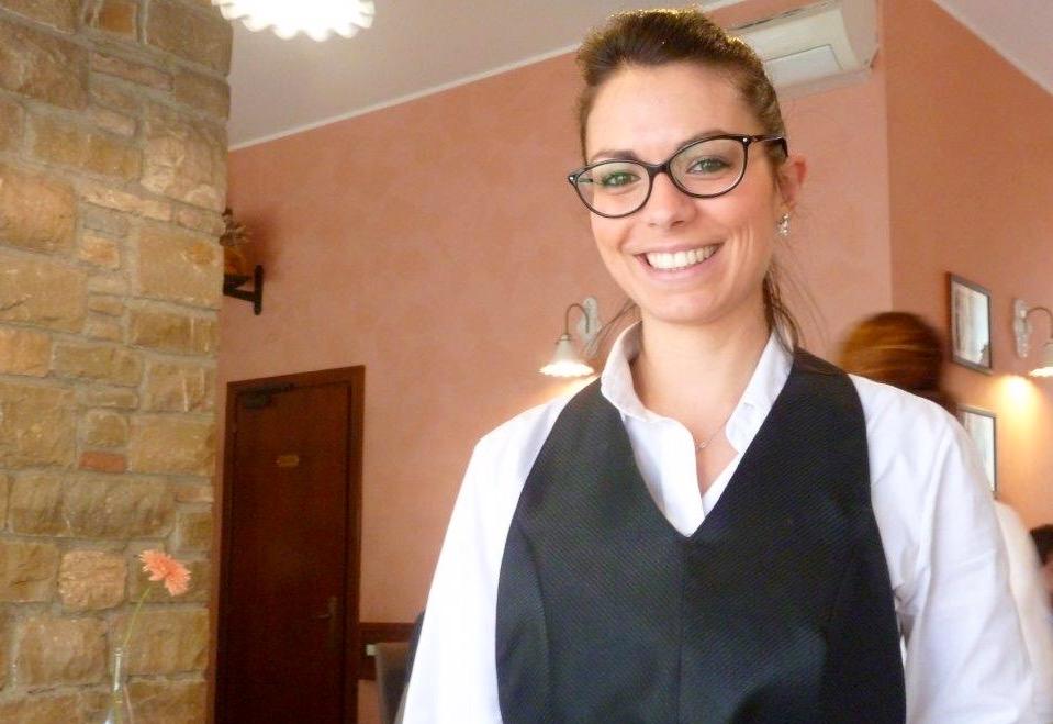 Giulia, un quarto della gestione familiare de I sapori di terra e di mare a Bergamo e' sulle sue spalle