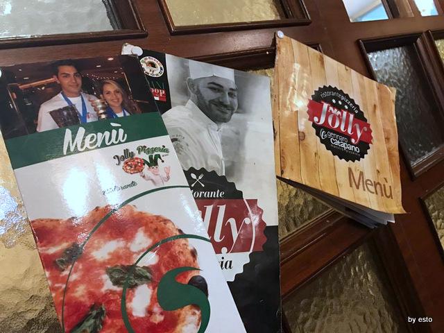 Jolly Gennaro e Angelo Catapano i vecchi menu