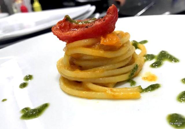 Luisa Evangelista e Stefano Parrella Spaghetto con Pomodorini gialli e piennolo confit