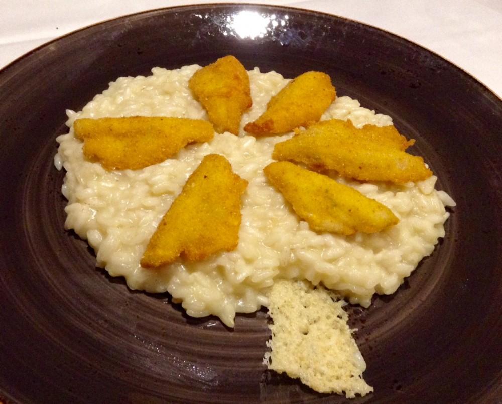 Marascia, risotto con filetti di persico