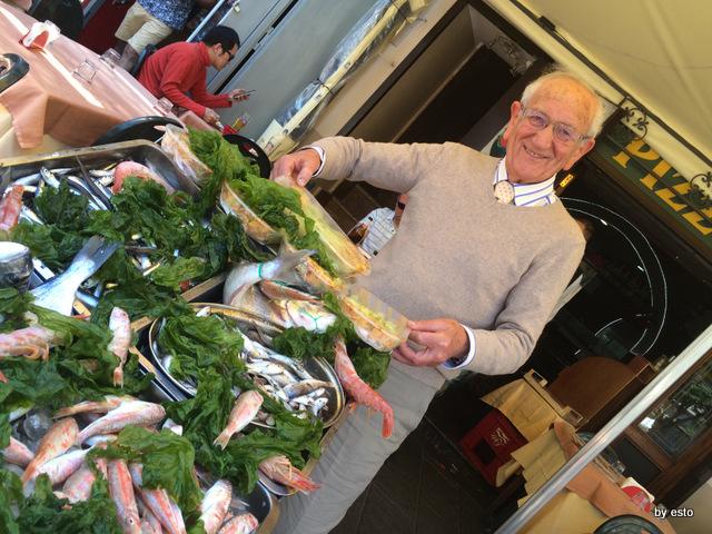 Mattozzi Lello Surace al banco del pesce