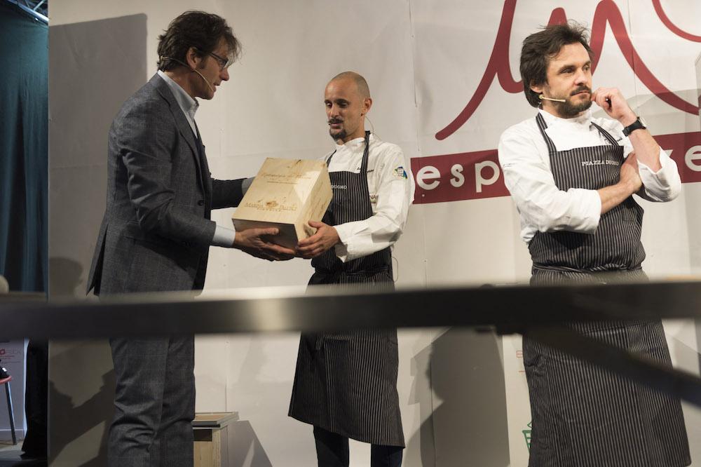 Meet in Cucina 2017- Enrico Crippa e Antonio Zaccardi con Massimo di Cintio