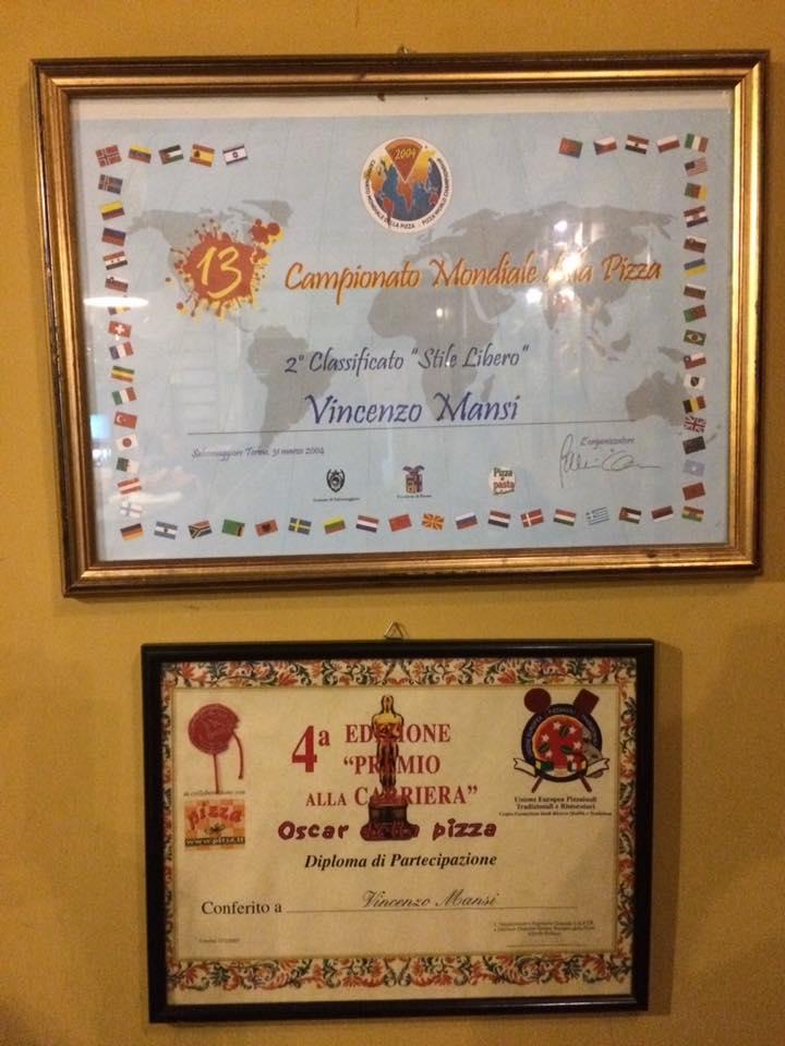 Pizzeria Mansi, alcuni premi