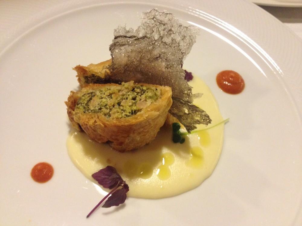 Ristorante Morese, strudel di broccoli e salsiccia