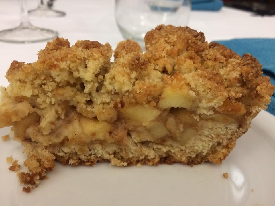 San Francesco, sbrisolona con mele
