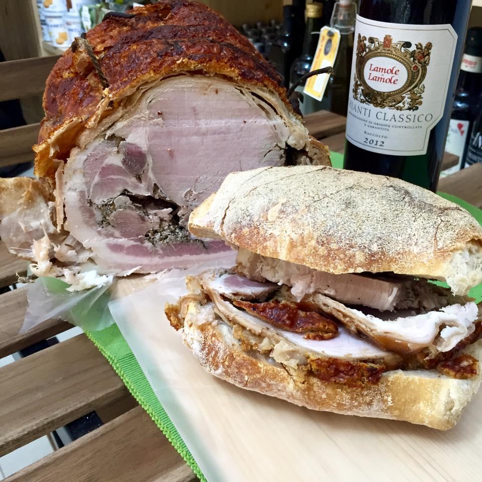 Sapori in Corso, panino serio con porchetta