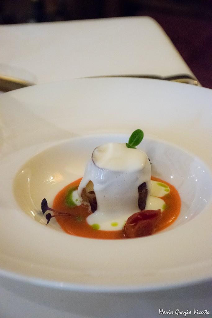 Taverna Estia, parmigiana di rana pescatrice