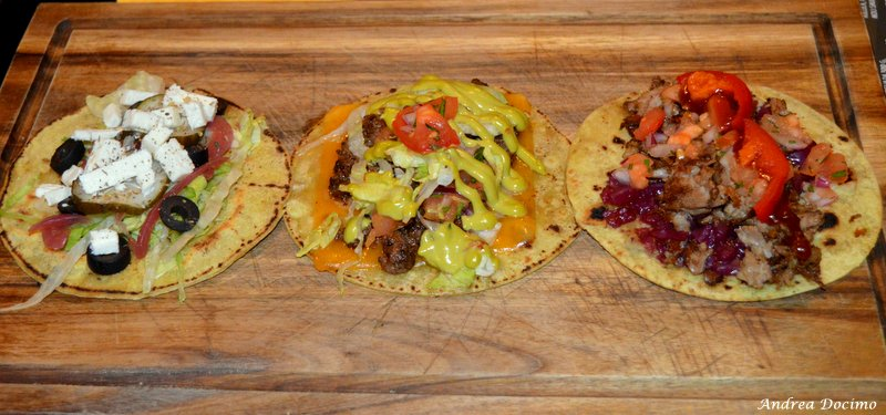 The Black Hole. Il Veggie Taco, il Beef Taco ed il Pulled Taco