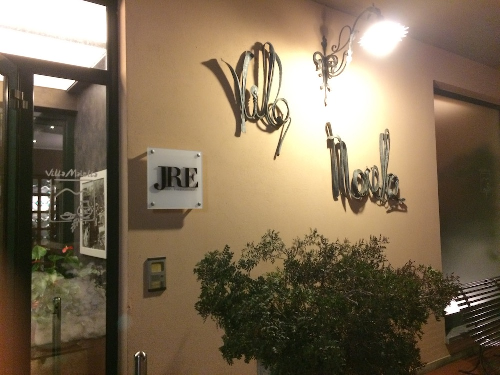 Villa Maiella, ingresso