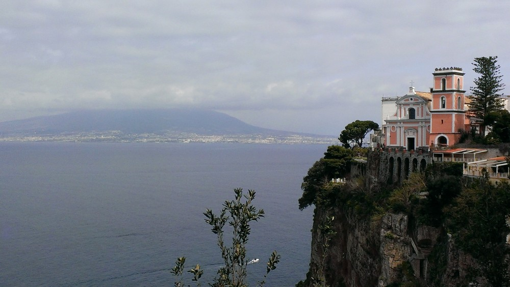 Villa Chiara veduta panoramica del Golfo di Napoli da Vico Equense