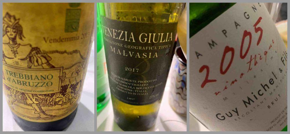 Pescheria, vino