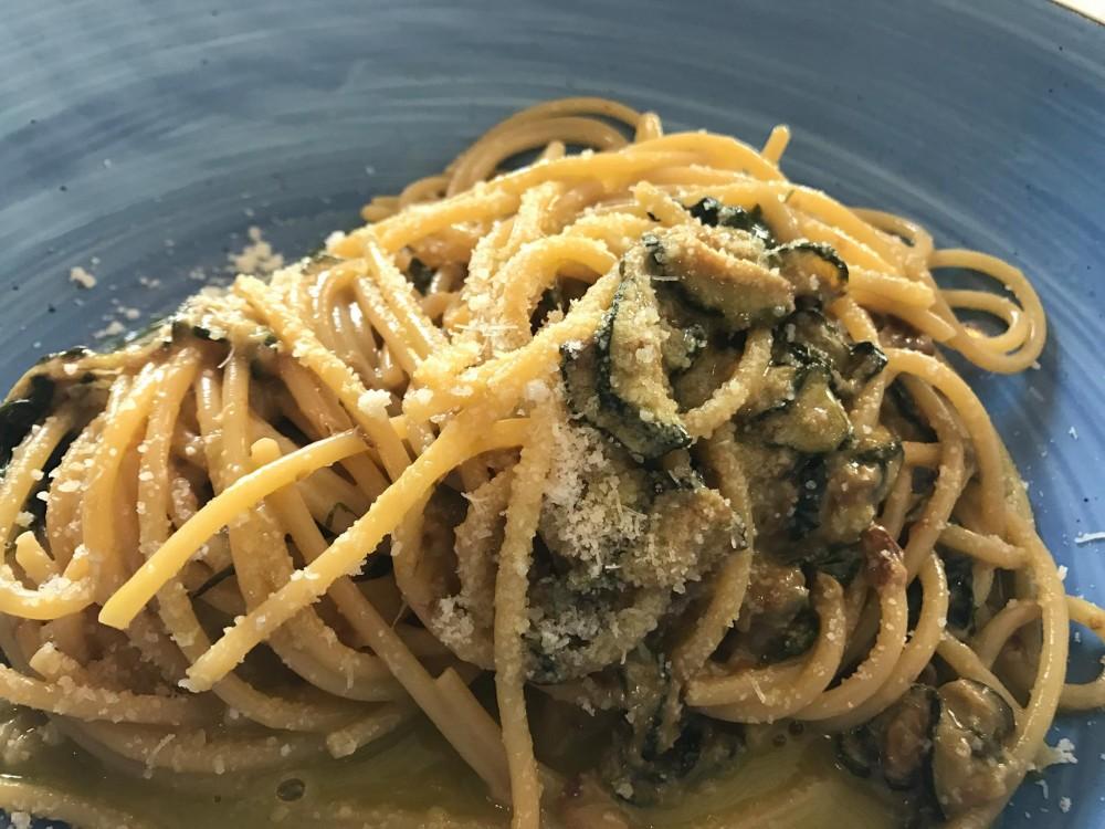 Pescheria, spaghetti alla Nerano