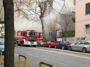 Intervento dei vigili del fuoco al Napoli Centrale