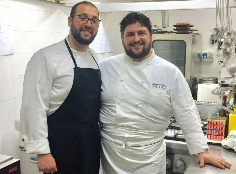Arte e Gusto, Carmine Farina (a dx) in cucina con Stefano Sodano