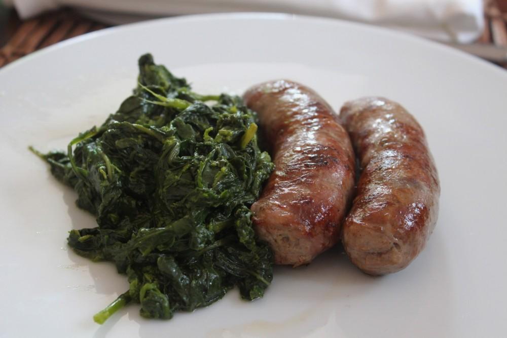 Villa Chiara, i friarielli con salsiccia