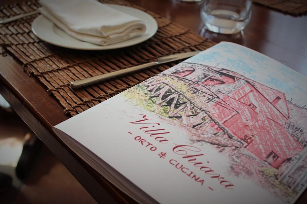 Villa Chiara, menu'