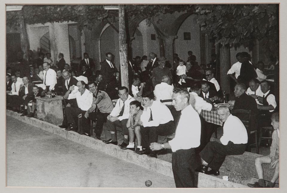 Controetichetta, Trattoria Visconti, dal 1932, foto in bianco e nero del '62
