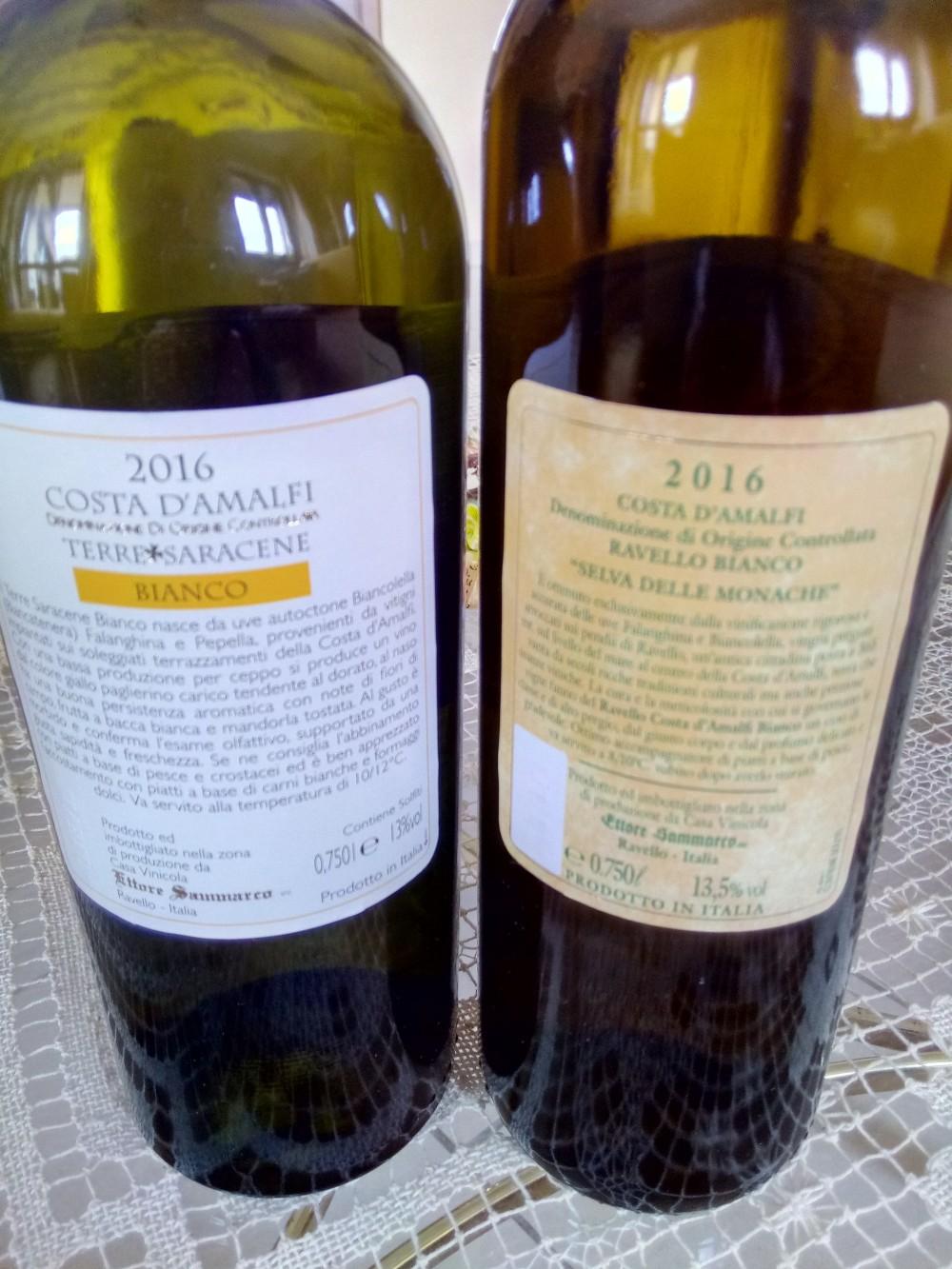 Controetichette vini di Ettore Sammarco