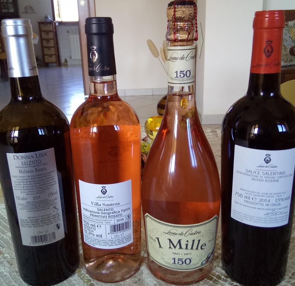 Controetichette vini di Leone De Castris