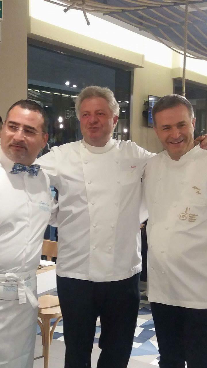 I tre protagonisti della serata: (da sinistra) Gianfranco Iervolino, Peppe Guida, Alfonso Pepe