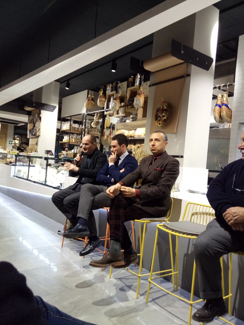 Da sx Gianni Ferramosca, Giuseppe Pisacane e Claudio Aprea