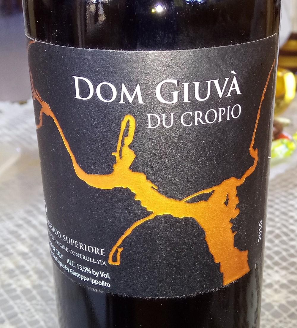 Dom Giuva' Ciro' Rosso Classico Superiore Riserva Doc 2013 Du Cropio