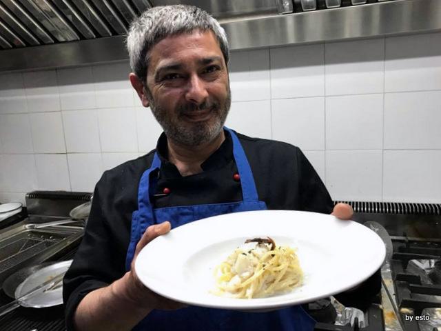 Don Baccala Paolo Galileo spaghettone baccala mantecato e pomodori secchi