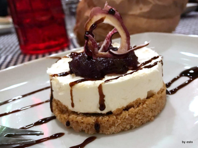 Don  Baccala cheese cake con baccala