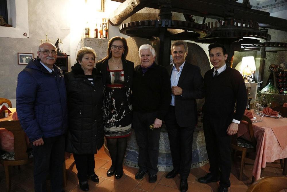 Enrico ed Eugenia Malgi, Marisa Cuomo, Luciano Ferolla, Andrea Ferraioli ed Oreste Angelico