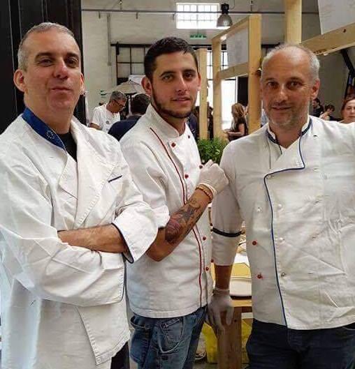 Er Parucca, lo chef Michael Picconi e Alessandro Civitenga