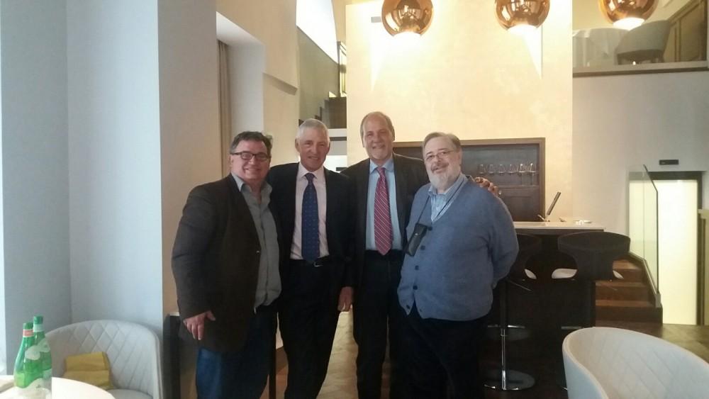Francesco Moser in compagnia di Daniele Cernilli, Carlo Bertilaccio e Maurizio Valeriani