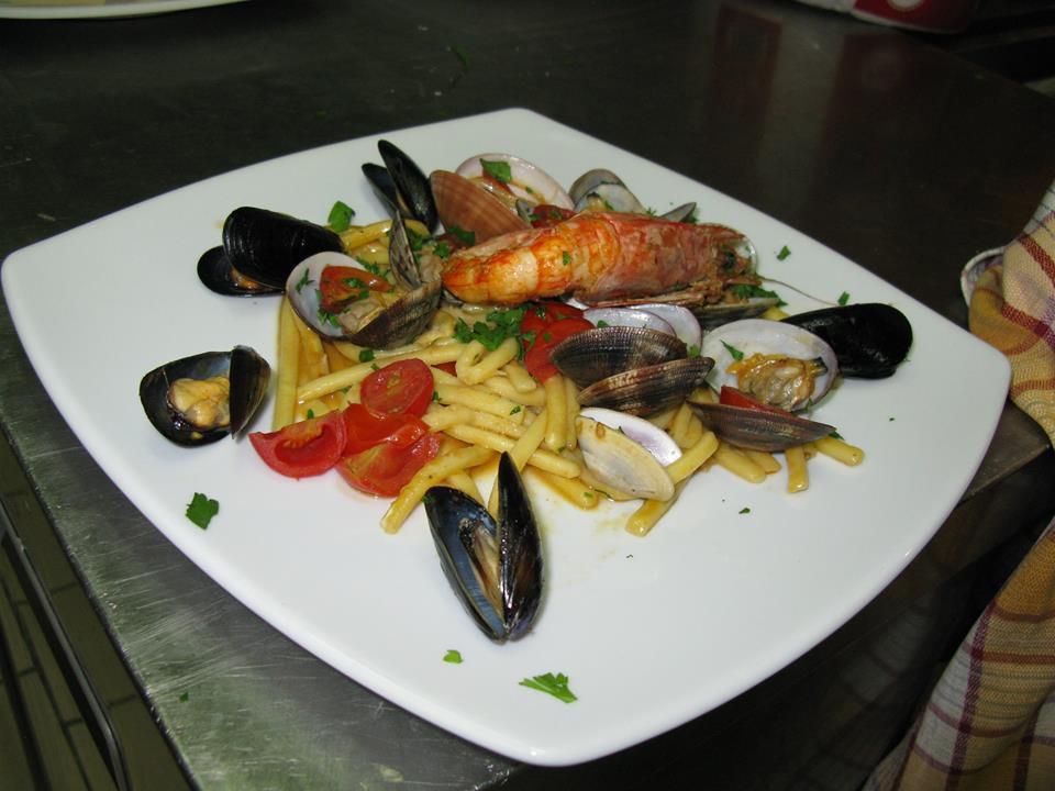 I piatti a base di pesce de La Cantina dei Mille