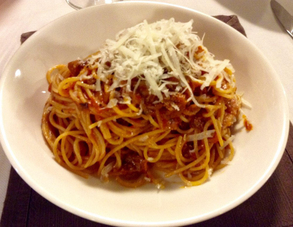 La Piana, Spaghetti all'Amatriciana