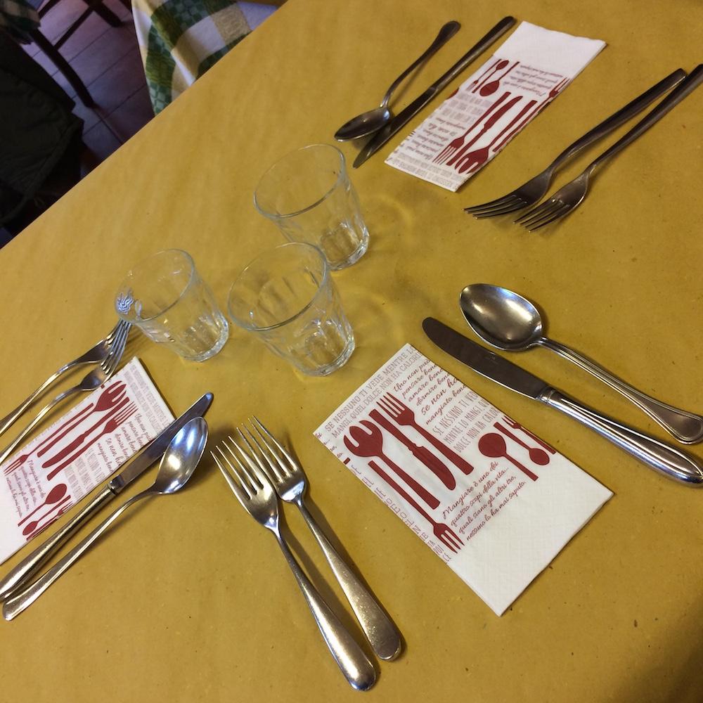 La Tavernetta - la tavola