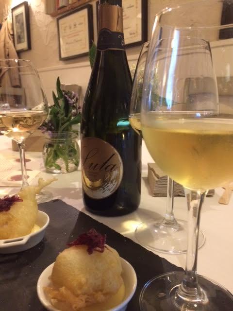 Lula Millesimato Nature in abbinamento a baccala' con maionese al passion fruit e vaniglia