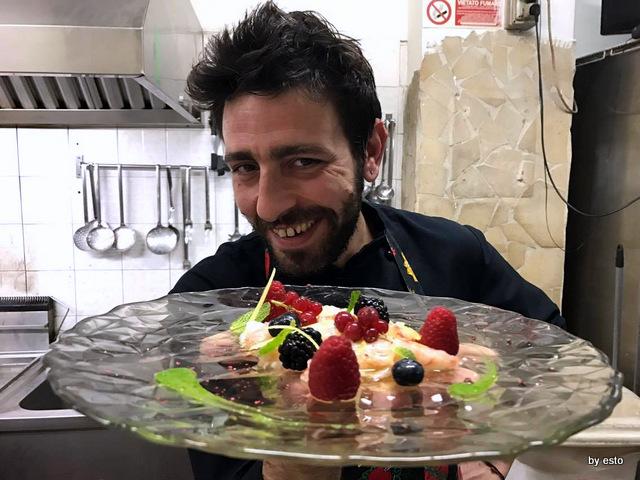Miru Ruggiero Ganzerli il crudo di gamberi viola
