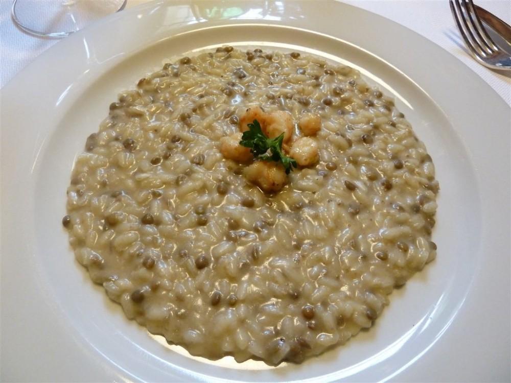 Opera Restaurant, Sorisole, risotto lenticchie