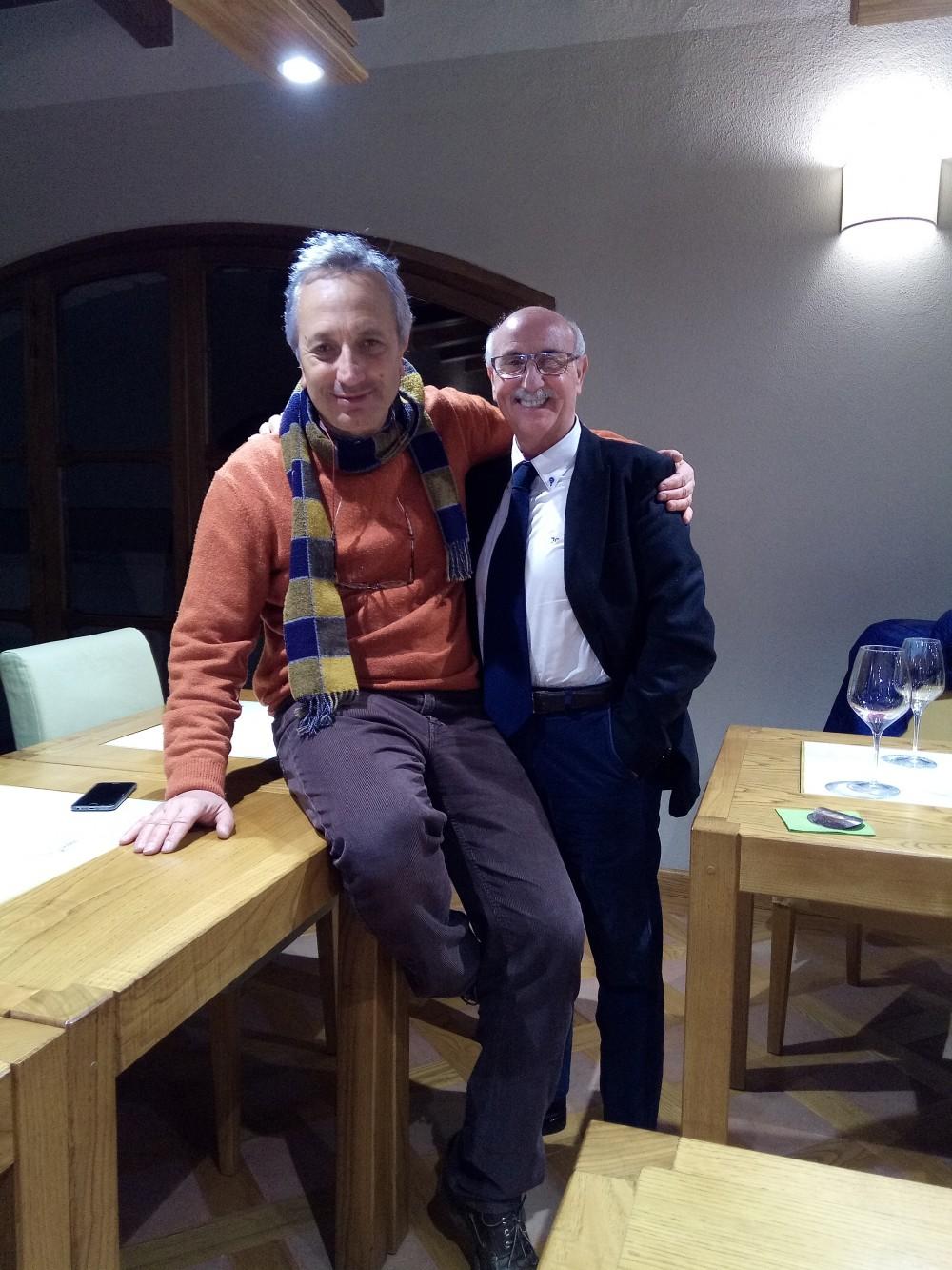 Professore Luigi Moio ed Enrico Malgi