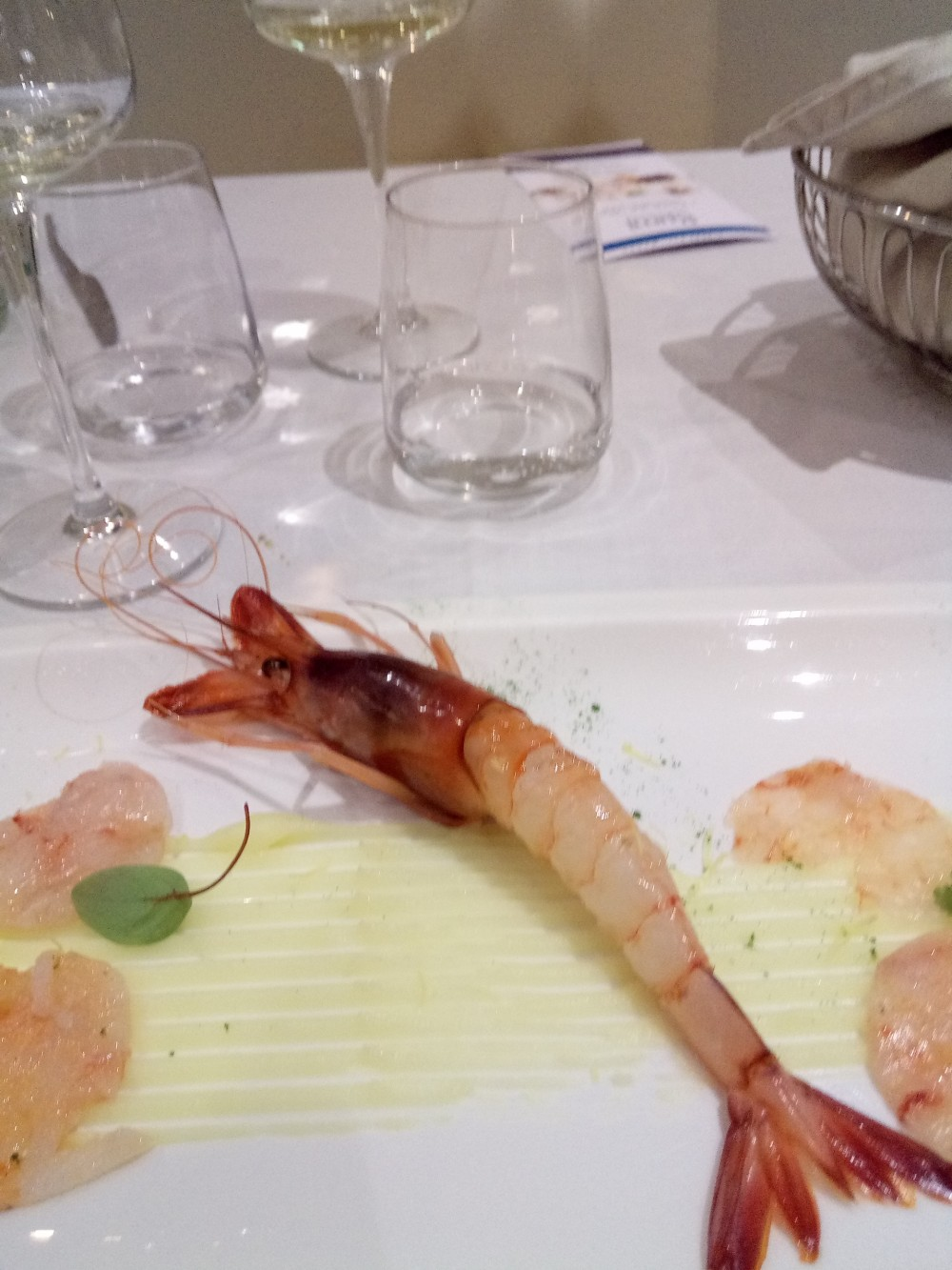 Rumi Restaurant, Hotel e Spa Gamberoni rossi di Acciaroli su patate aromatizzate al limone cilentano