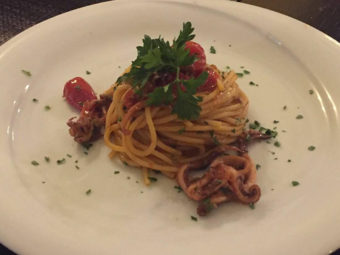 Spaghetti ai polpetti