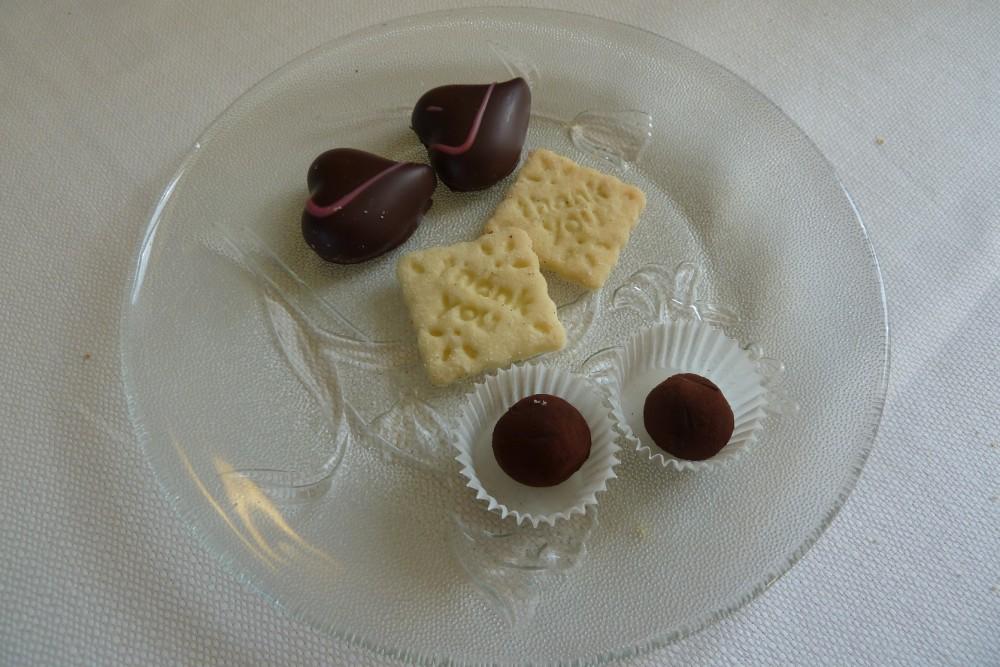 Trattoria Visconti, i cuori di cioccolato col caffe'