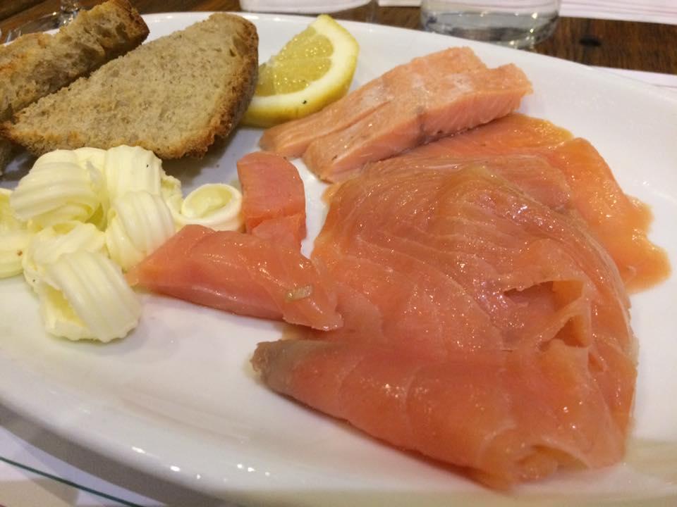 Trimani Wine Bar, il salmone