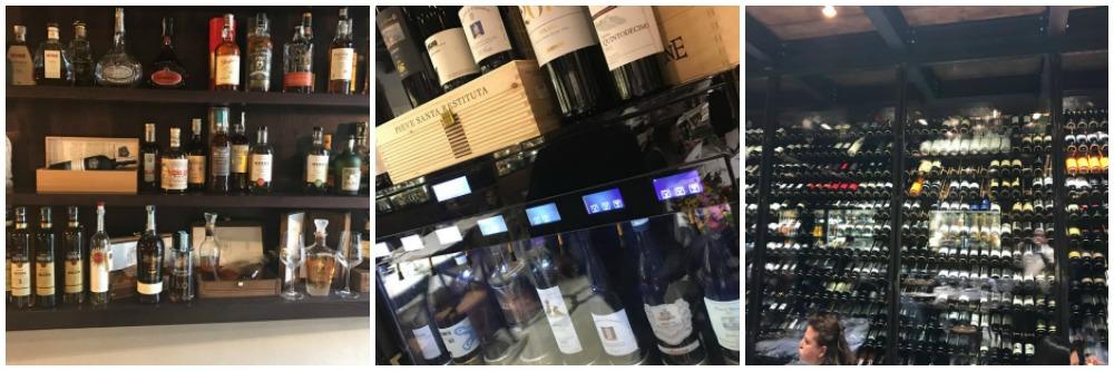 Braceria Bifulco a Ottaviano, vini e distillati