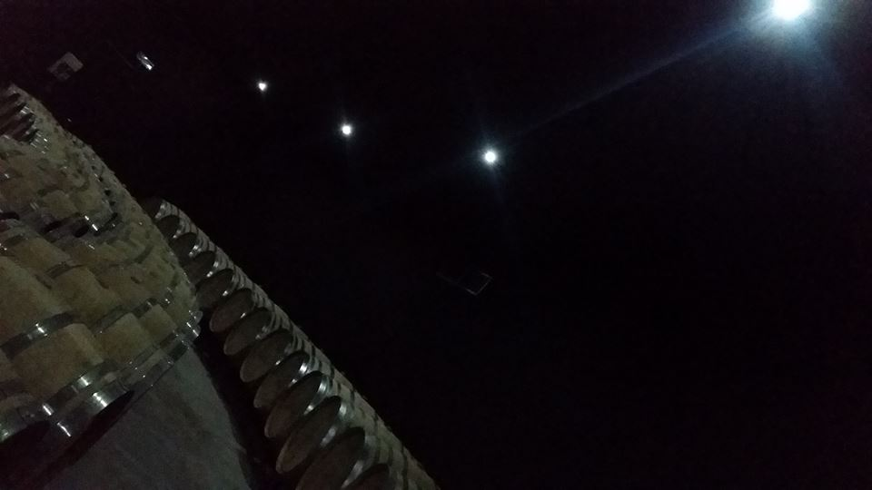 Campo alle Comete, la barricaia, somigliante ad un cielo stellato