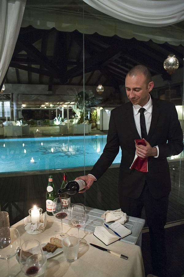 Alberto Cagnolo, cameriere