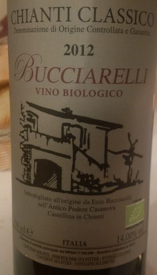 Antico Podere Casanova Bucciarelli Chianti classico 2012 docg