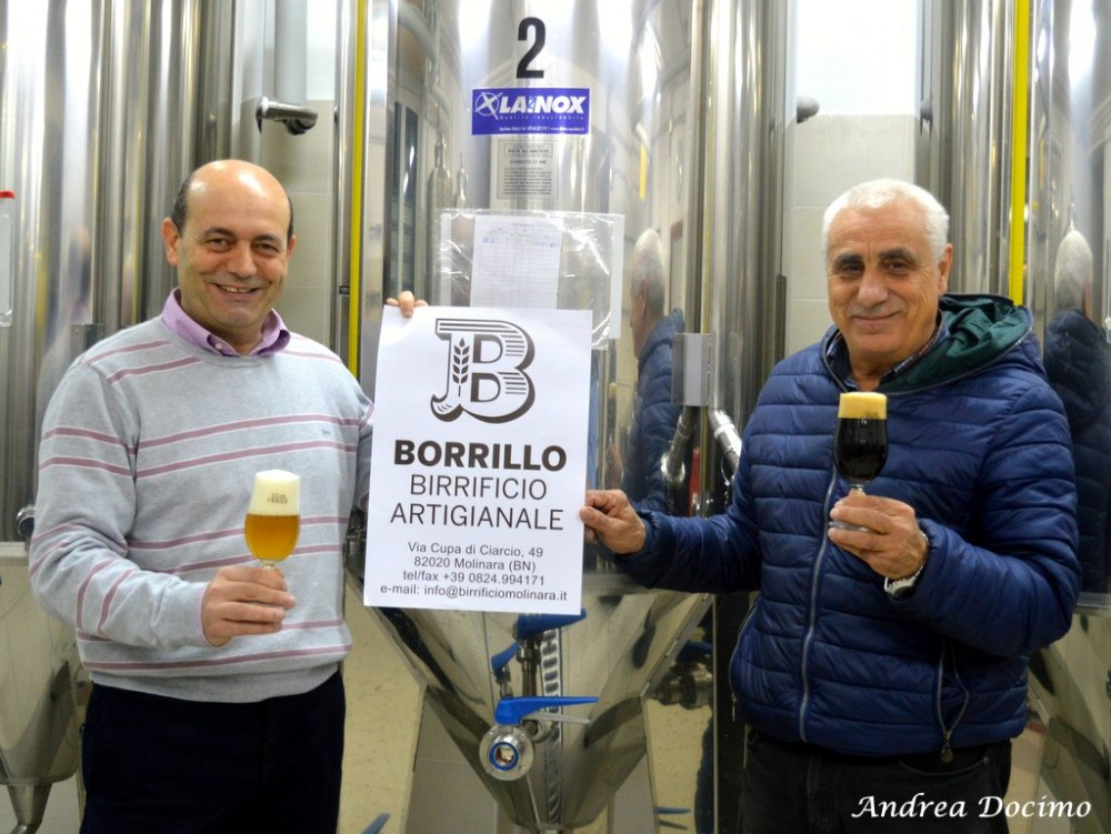 Birrificio Borrillo a Molinara. Bruno Borrillo e Pasquale Rescignano