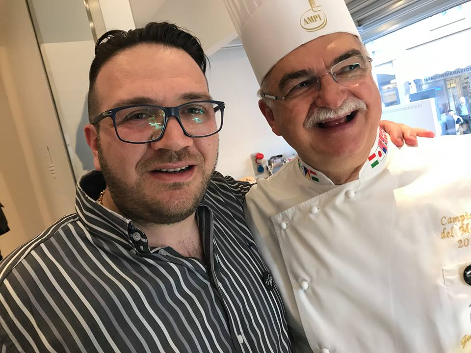 Bottega Portici 2 Torri, Agostino Iacobucci con Gino Fabbri