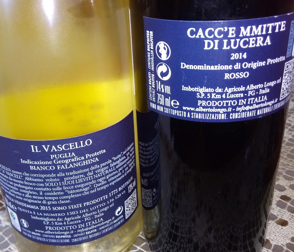 Controetichette vini di Alberto Longo