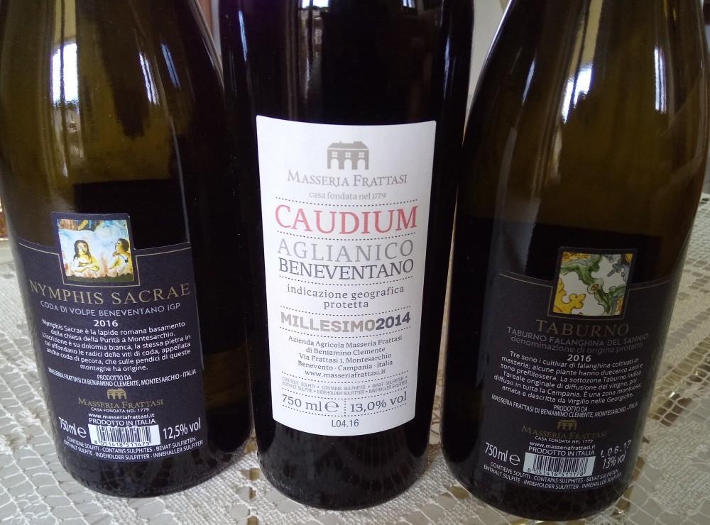 Controetichette vini di Masseria Frattasi